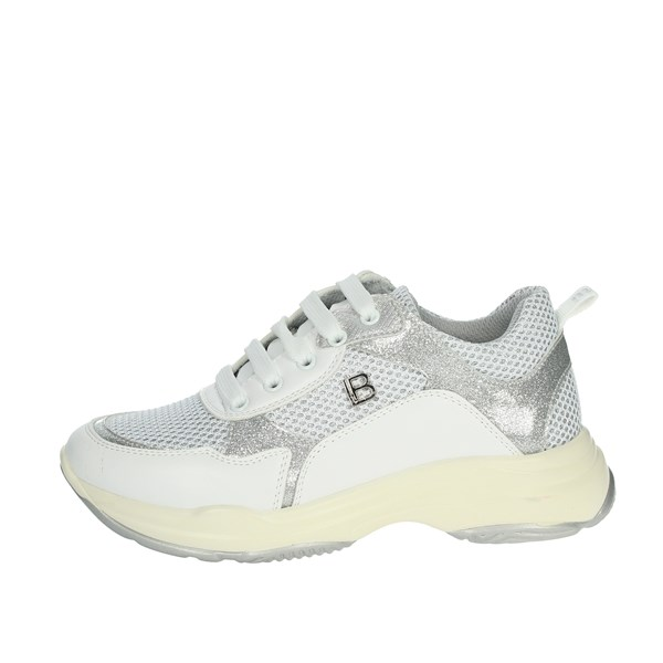 Laura Biagiotti Dolls Shoes Sneakers White/Silver 5180