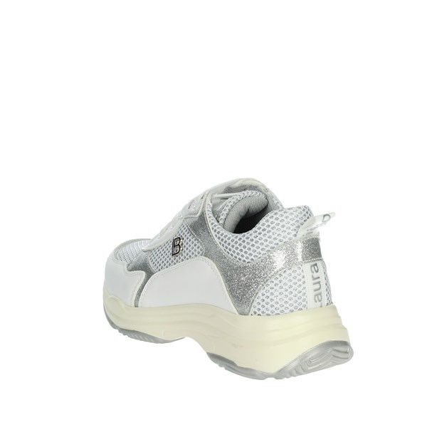 <Laura Biagiotti Dolls Shoes Sneakers White/Silver 5180