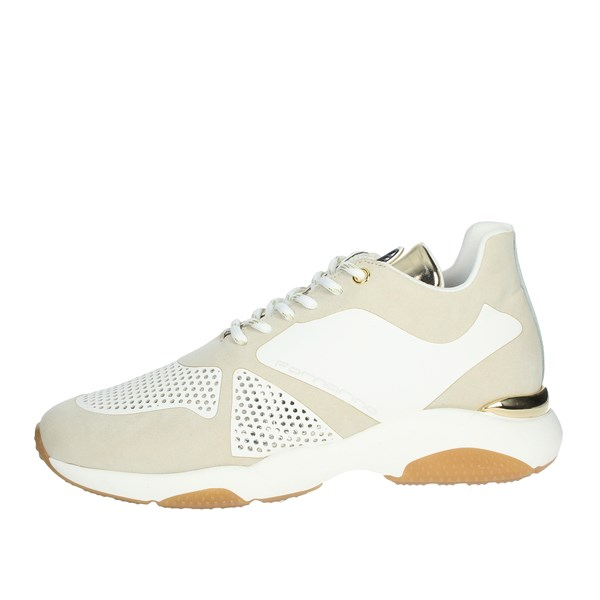 Fornarina Shoes Sneakers Beige PE19MOON