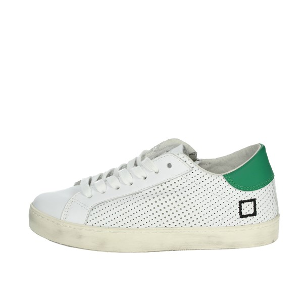 D.a.t.e. Shoes Sneakers White/Green HILL LOW  JR