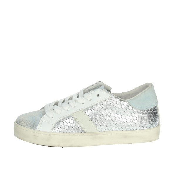 D.a.t.e. Shoes Sneakers Silver HILL LOW  JR