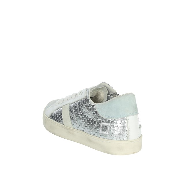 <D.a.t.e. Scarpe Bambina Sneakers ARGENTO HILL LOW  JR