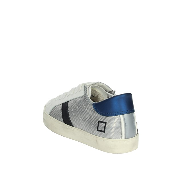 D.a.t.e. Shoes Sneakers White/Silver HILL LOW  JR