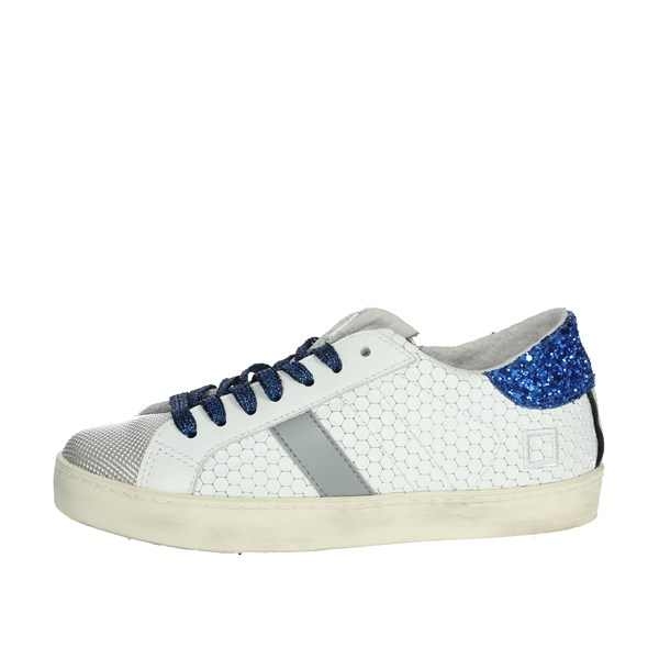 D.a.t.e. Shoes Sneakers White/Blue HILL LOW  JR