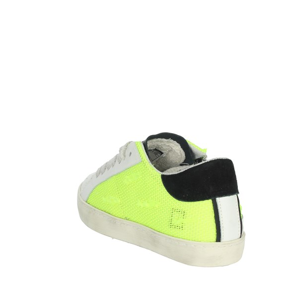 D.a.t.e. Shoes Sneakers White/Yellow HILL LOW  JR