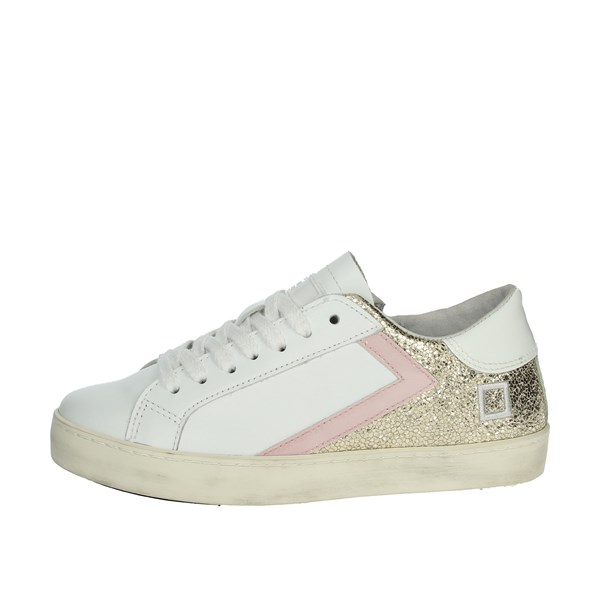 D.a.t.e. Shoes Sneakers White/Gold HILL LOW  JR