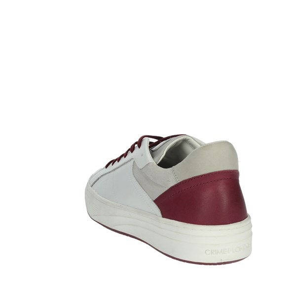 Crime London  Shoes Sneakers White/Burgundy 11305PP1.10