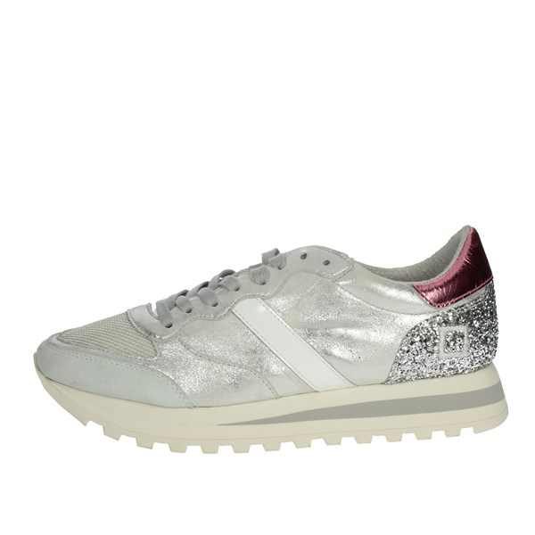 D.a.t.e. Shoes Sneakers Silver/pink BOSTON-51