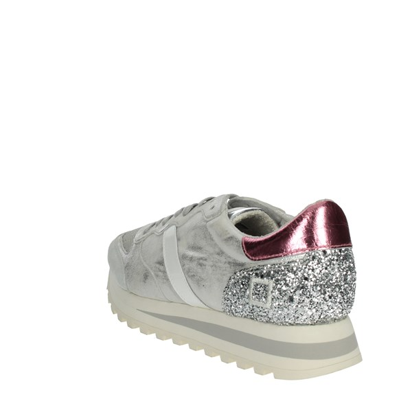 <D.a.t.e. Shoes Sneakers Silver/pink BOSTON-51
