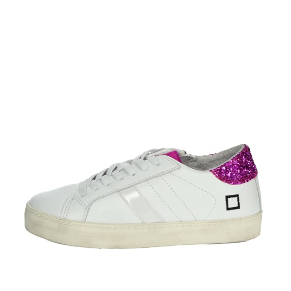 D.a.t.e. Shoes Sneakers White/Fuchsia HILL LOW-E