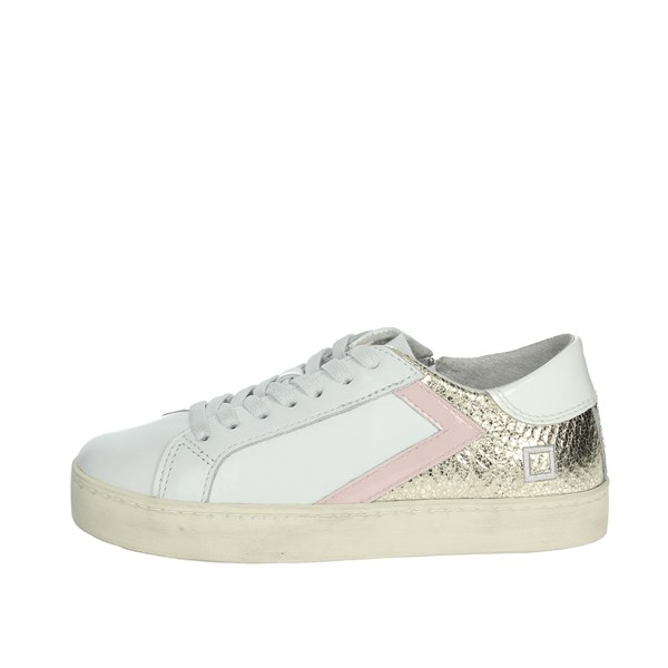 D.a.t.e. Shoes Sneakers White/Gold HILL LOW-F