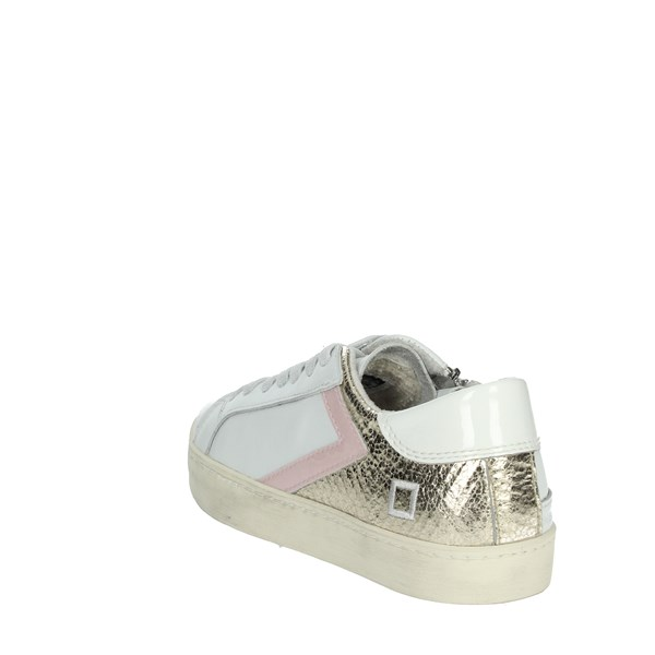 <D.a.t.e. Shoes Sneakers White/Gold HILL LOW-F