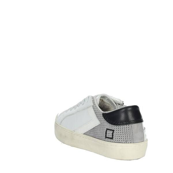 D.a.t.e. Shoes Sneakers White/Grey HILL LOW-G
