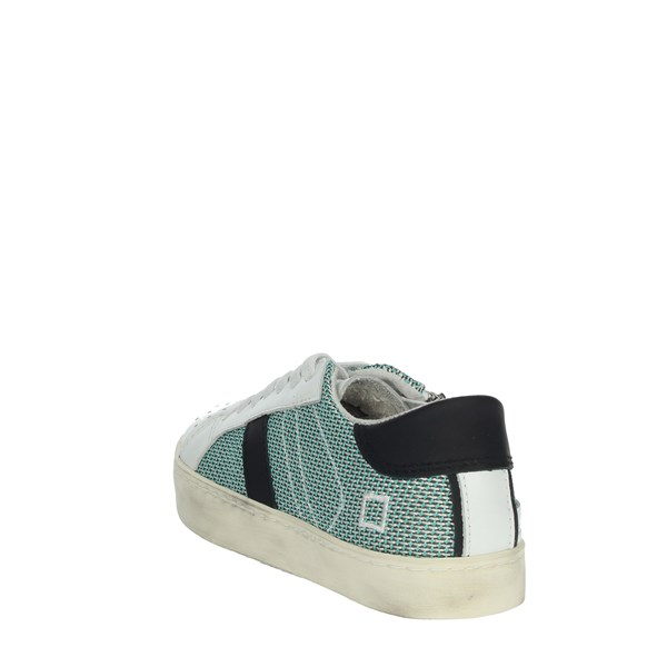 D.a.t.e. Shoes Sneakers White/Green HILL LOW-N
