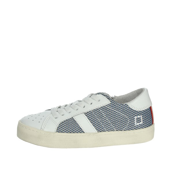 D.a.t.e. Shoes Sneakers White/Blue HILL LOW-O