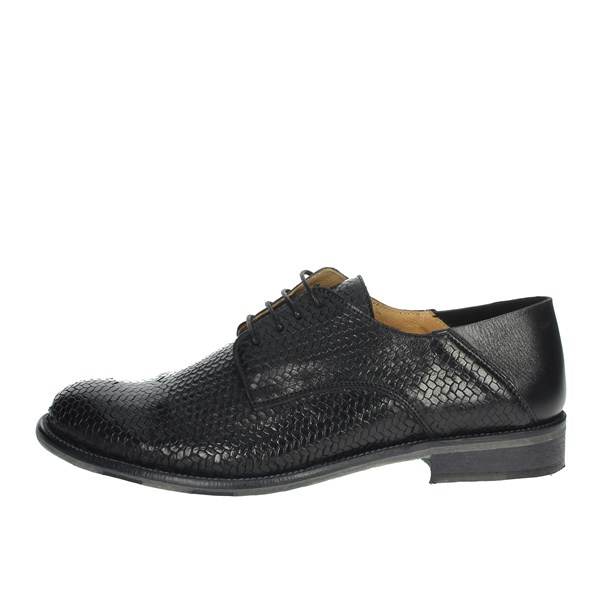 Exton Shoes Brogue Black 3102
