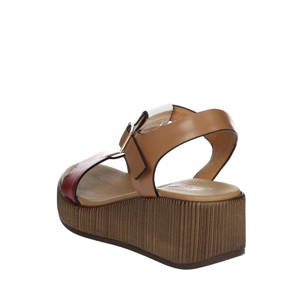 <Repo Shoes Sandals Red/Brown Leather 18272-E9