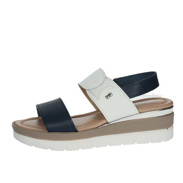 Valleverde Shoes Sandals Blue/White 32362