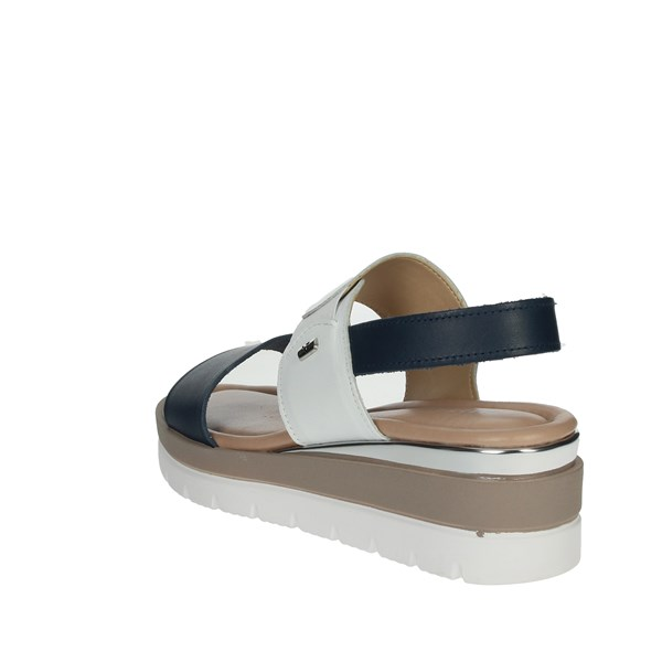 <Valleverde Shoes Sandals Blue/White 32362