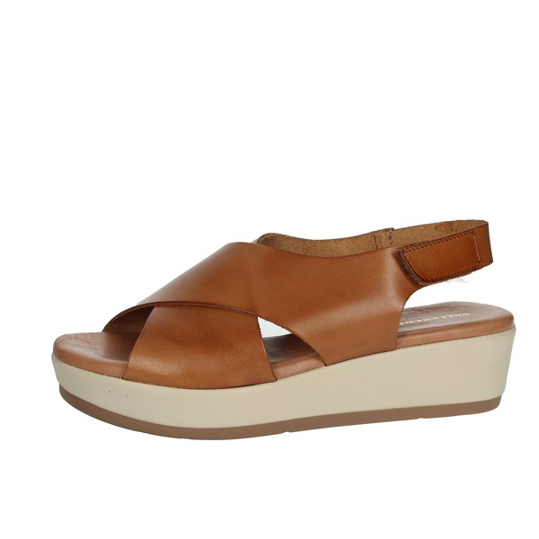 Valleverde Shoes Sandals Brown leather 34222