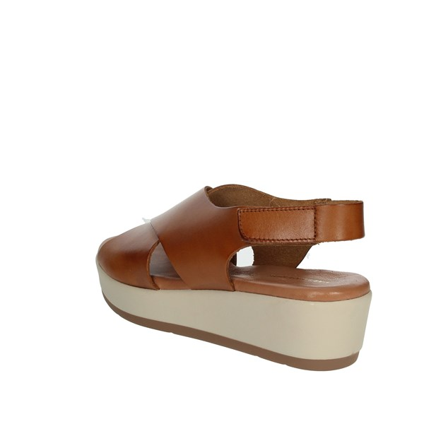 <Valleverde Shoes Sandals Brown leather 34222