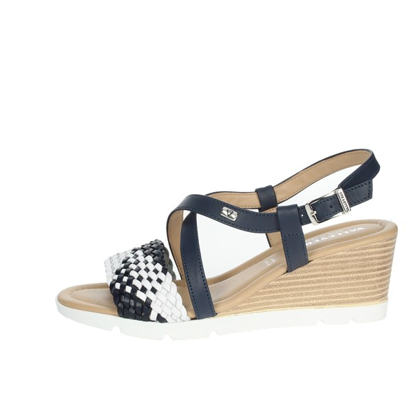 Valleverde Shoes Sandals Blue/White 32305
