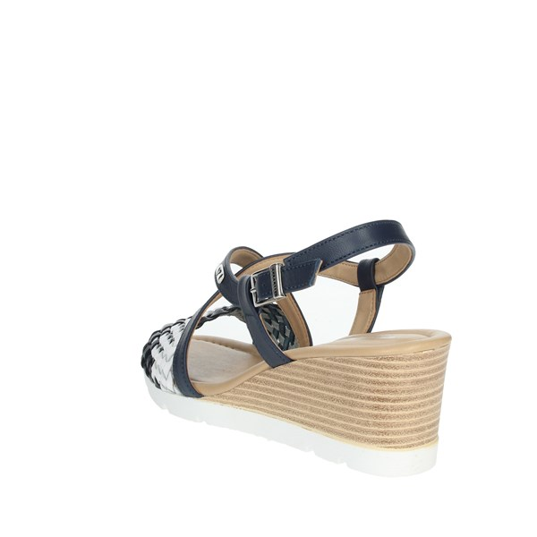 <Valleverde Shoes Sandals Blue/White 32305