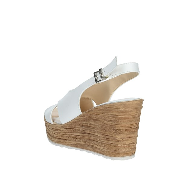 Keys Shoes Sandals White 5894