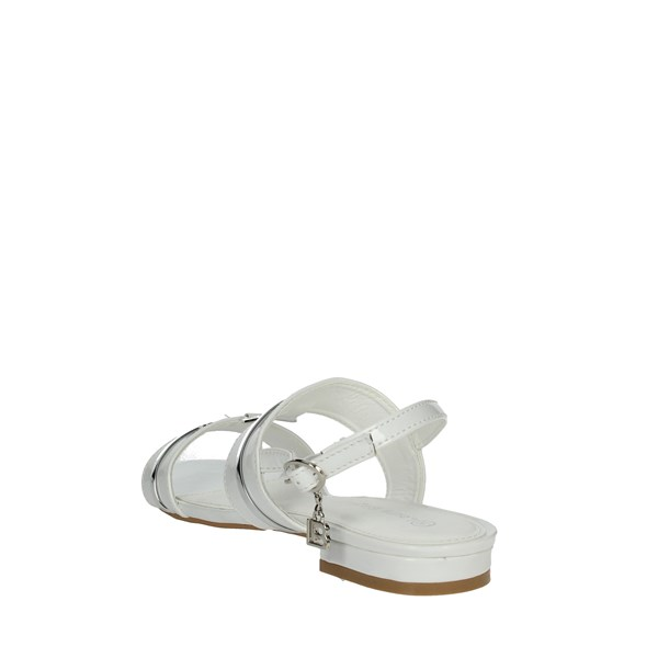 Laura Biagiotti Shoes Sandal White/Silver 5611