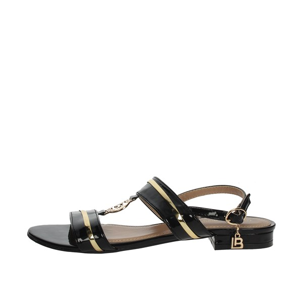 Laura Biagiotti Shoes Sandal Black/Gold 5611