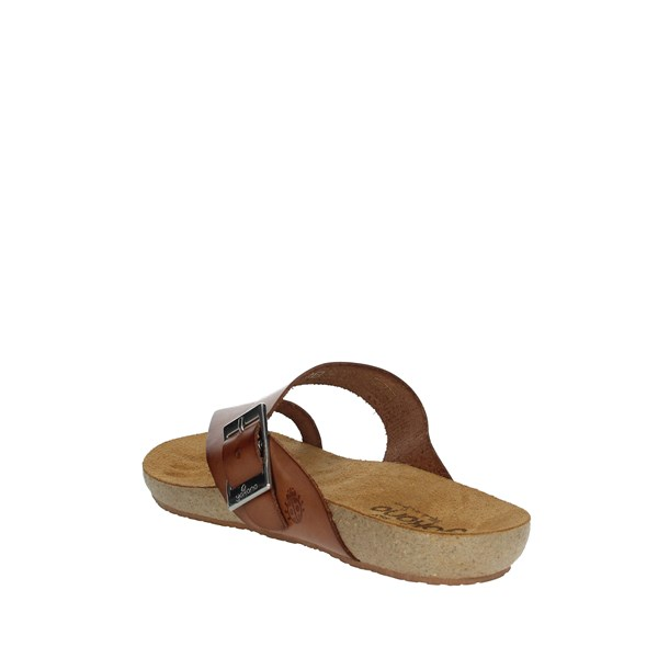 Yokono Shoes Flip Flops Brown leather IBIZA
