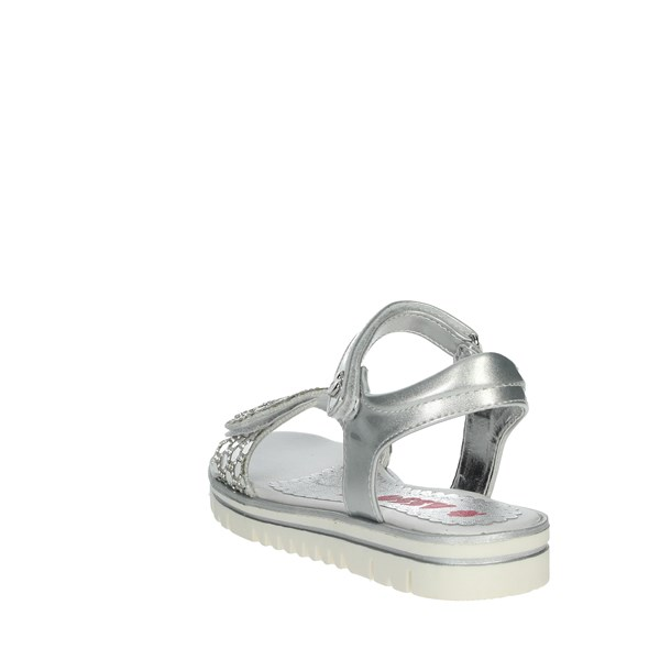 <Asso Shoes Sandals Silver AG-2001