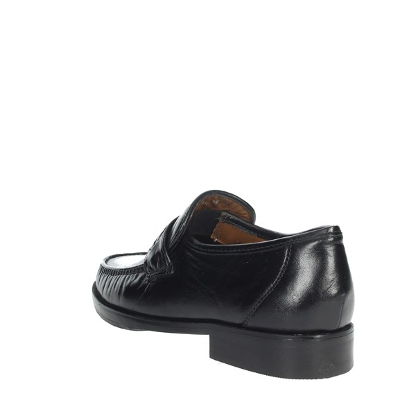 <Fontana Shoes Moccasin Black 3151-N