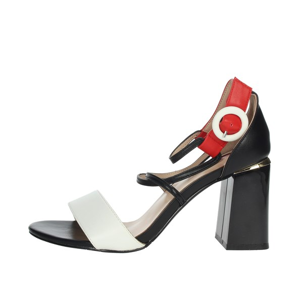 Laura Biagiotti Shoes Sandals White/Black 5306