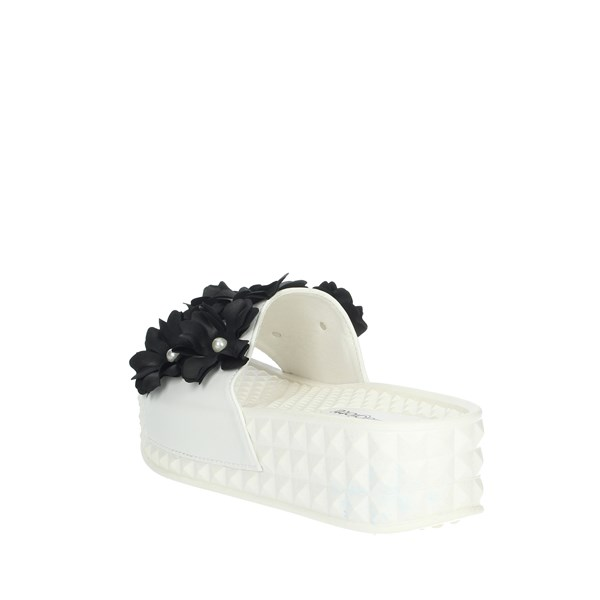 Laura Biagiotti Shoes slippers White/Black 5409