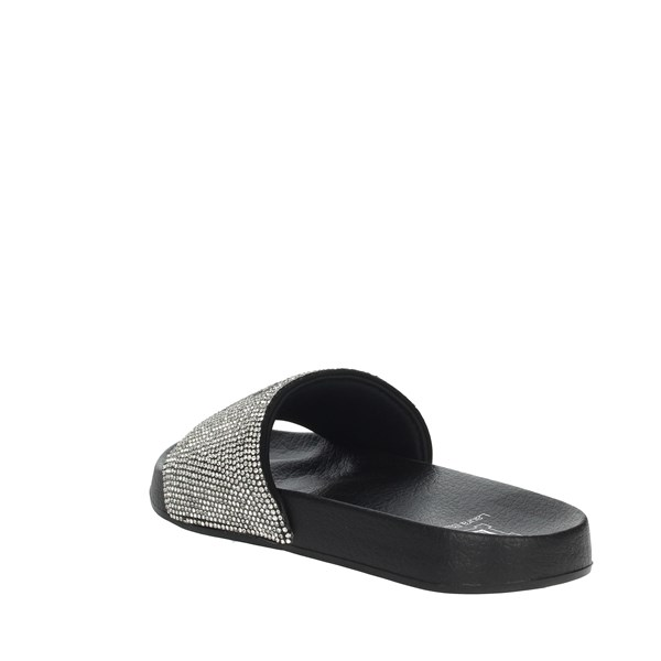 Laura Biagiotti Shoes slippers Black/Silver 5645