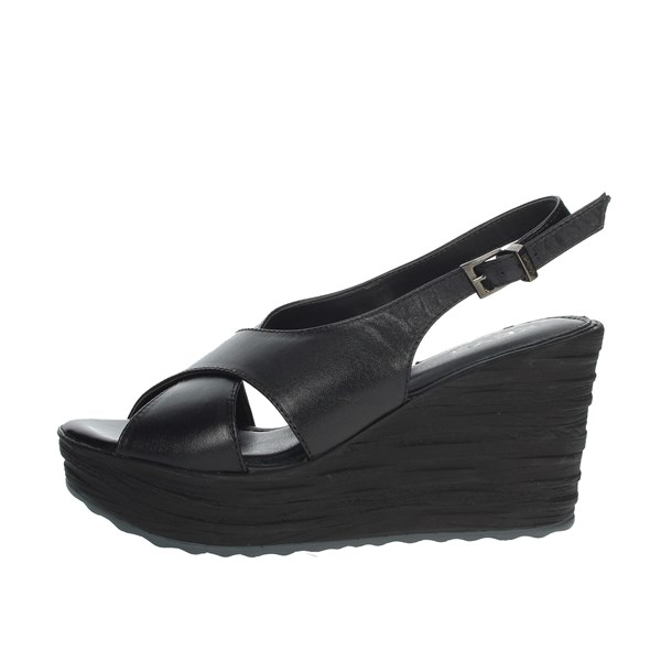 Keys Shoes Sandals Black 5894