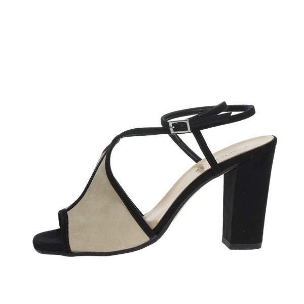 Linea Uno Shoes Sandal Black/Beige F418SP