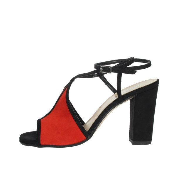 Linea Uno Shoes Sandals Black/Red F418SP