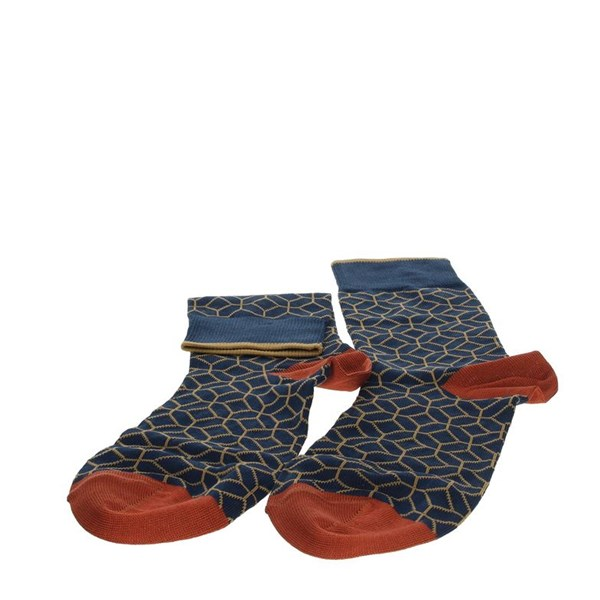 Alv By Alviero Martini Accessories Socks Blue/Orange ALV4052