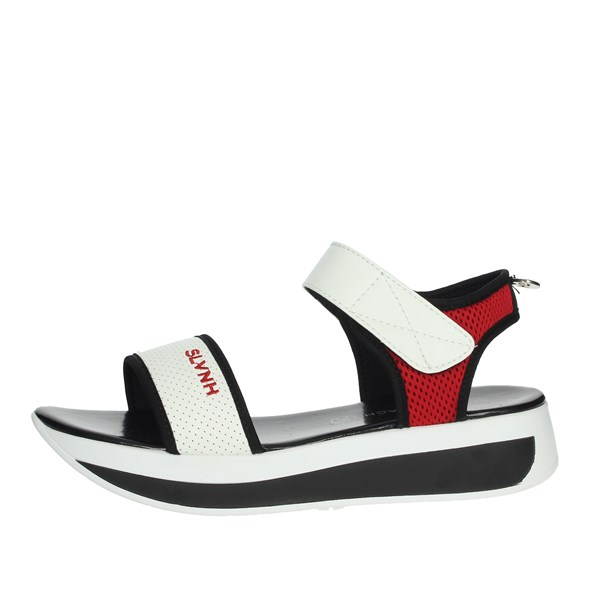 Silvian Heach Shoes Sandal White/Black SH805