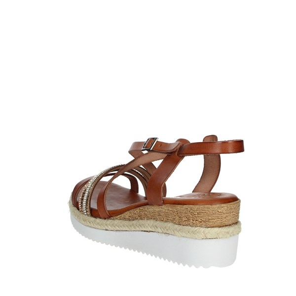 Porronet Shoes Sandals Brown leather FI1905