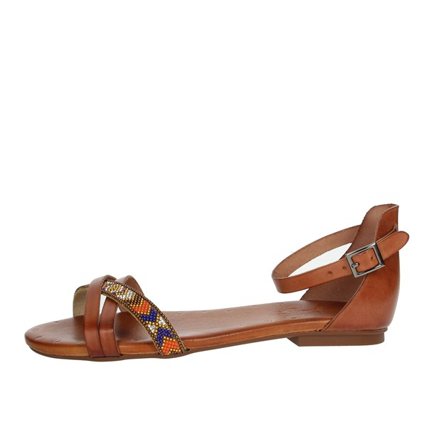 Porronet Shoes Sandals Brown leather FI2412