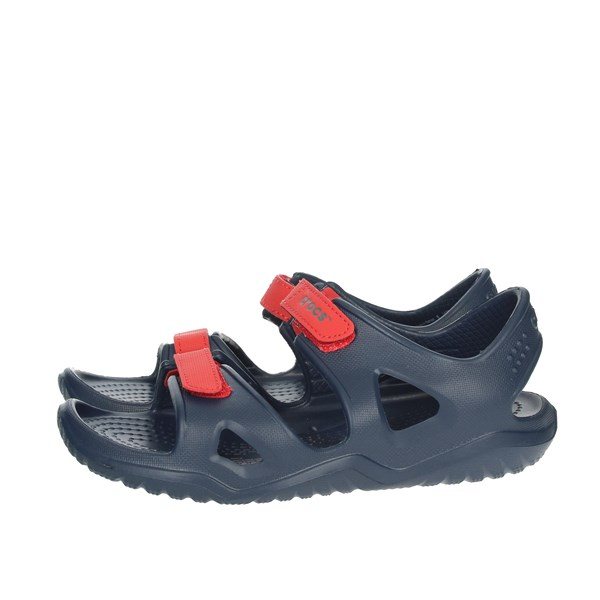 Crocs Shoes Sandal Blue/Red 204988-4BA