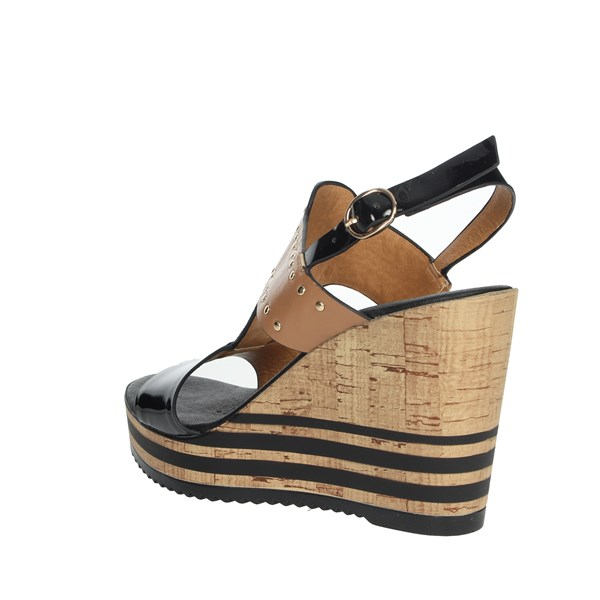 Repo Shoes Sandals Black/Brown leather 55401-E9