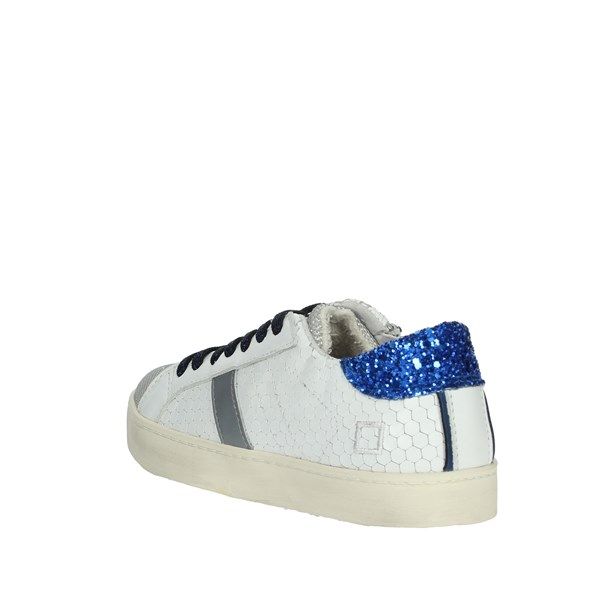 D.a.t.e. Shoes Sneakers White/Blue HILL LOW-A8