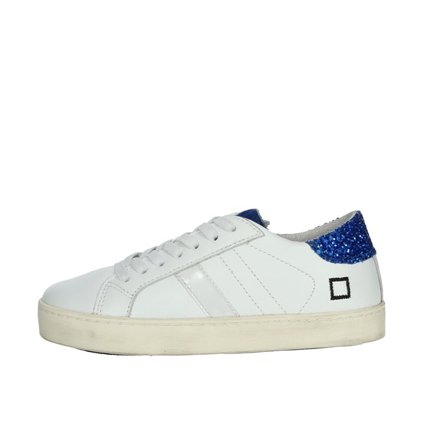D.a.t.e. Shoes Sneakers White/Blue HILL LOW-A1