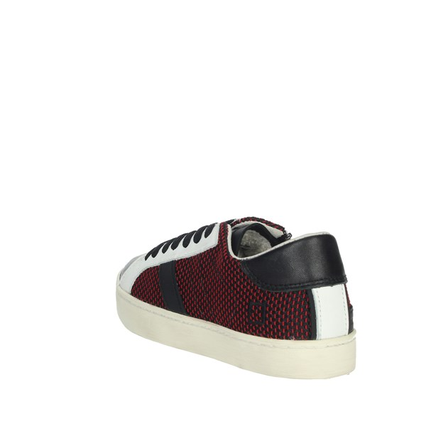 D.a.t.e. Shoes Sneakers Black/Red HILL LOW-A7