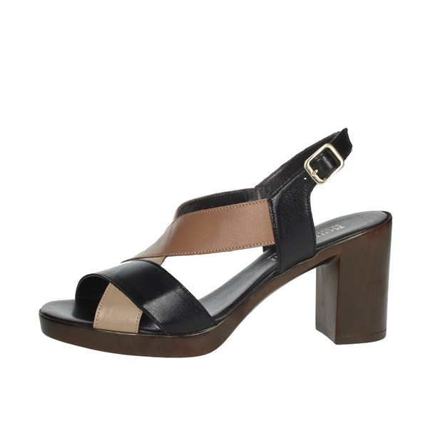 Romagnoli Shoes Sandals Black/Beige B9E7802