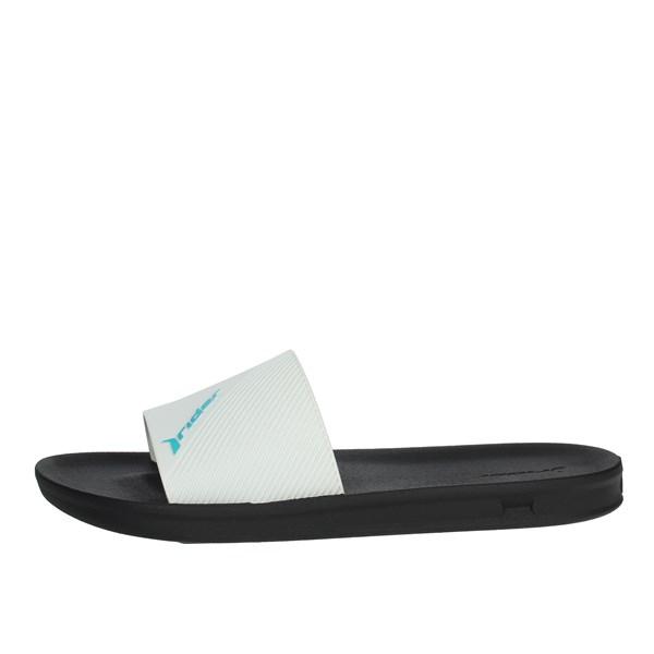 Rider Shoes Clogs White/Black 11431